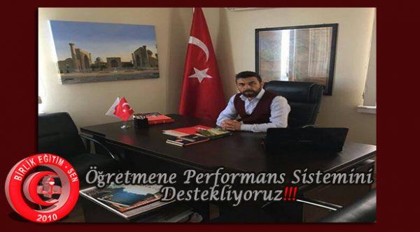 Öğretmene Performans Sistemini Destekliyoruz!!!