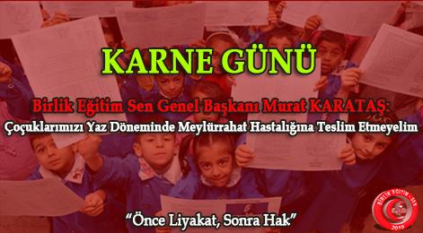 Birlik Eğitim Sen Genel Başkanı Murat KARATAŞ Açıklamalarda bulundu.