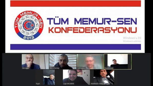 Tüm Memur-Sen Konfederasyonu Şubat 2021 Yönetim Kurulu Toplantısını Çevrimiçi Olarak Gerçekleştirdik